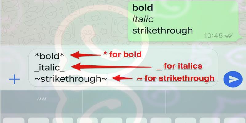 WhatsApp typing tricks