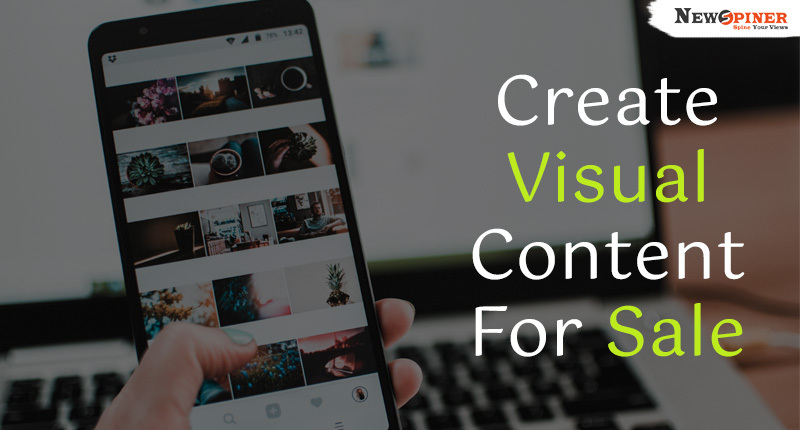 Create visual content for sale