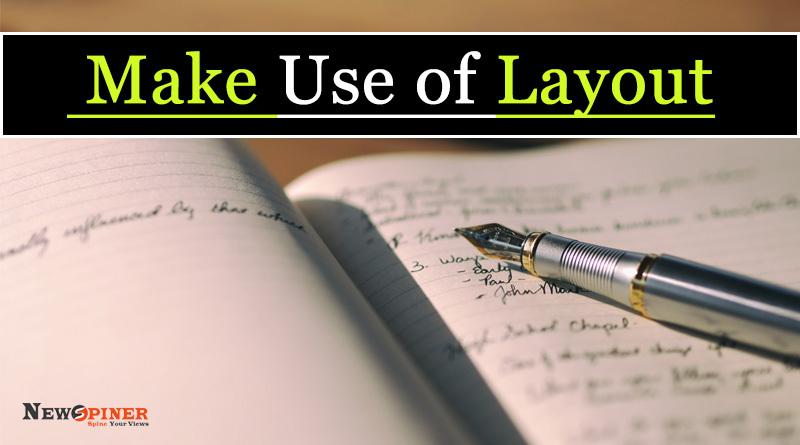 Make use of layout