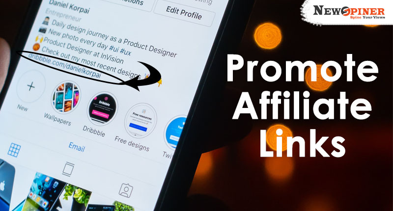 Promote affiliate links
