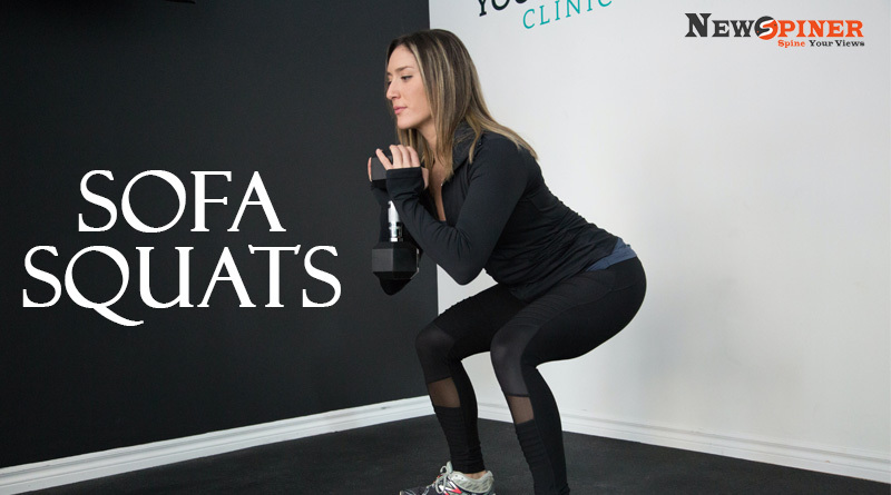 Sofa Squat -How to get fit at home without equipment