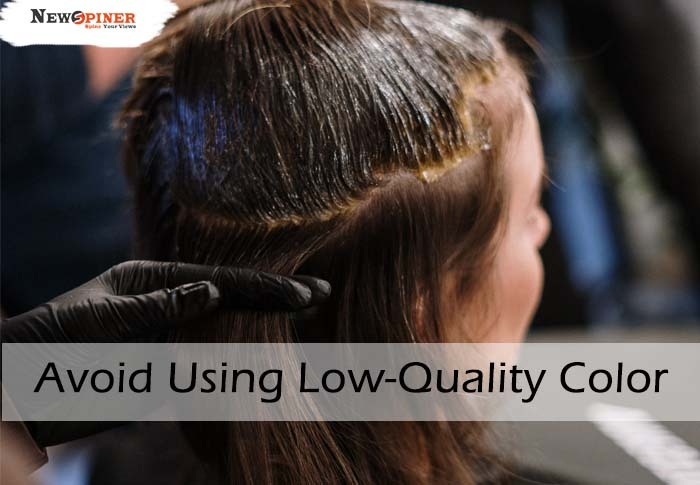 Avoid using low quality color