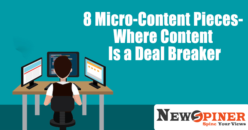 8 Micro-Content Pieces- Where Content Is a Deal Breaker