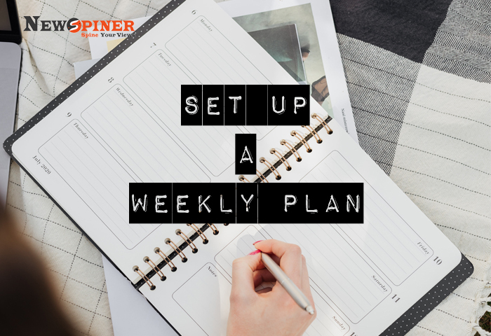 Set up a weekly plan - How to stay fit at home without equiment