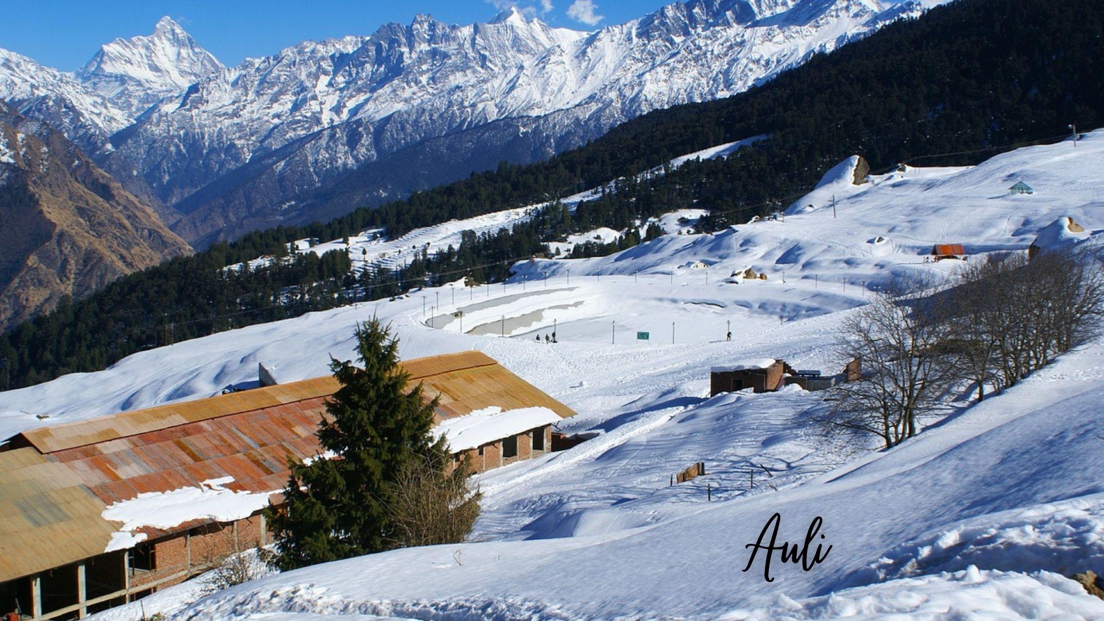 Auli - Snow Honeymoon Places in India