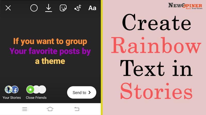 Create Rainbow text in stories