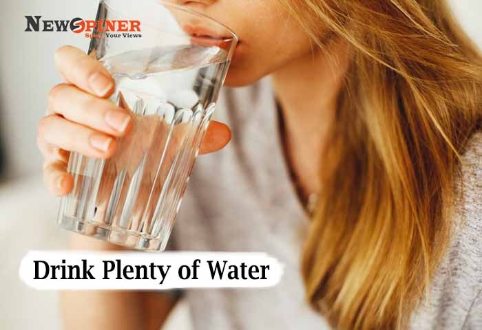 Drink Plenty of Water -How to lose arm fat fast for females at home