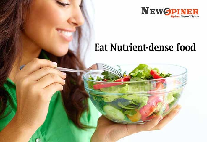 Eat Nutrient Dense Food - food to lose arm fat fast