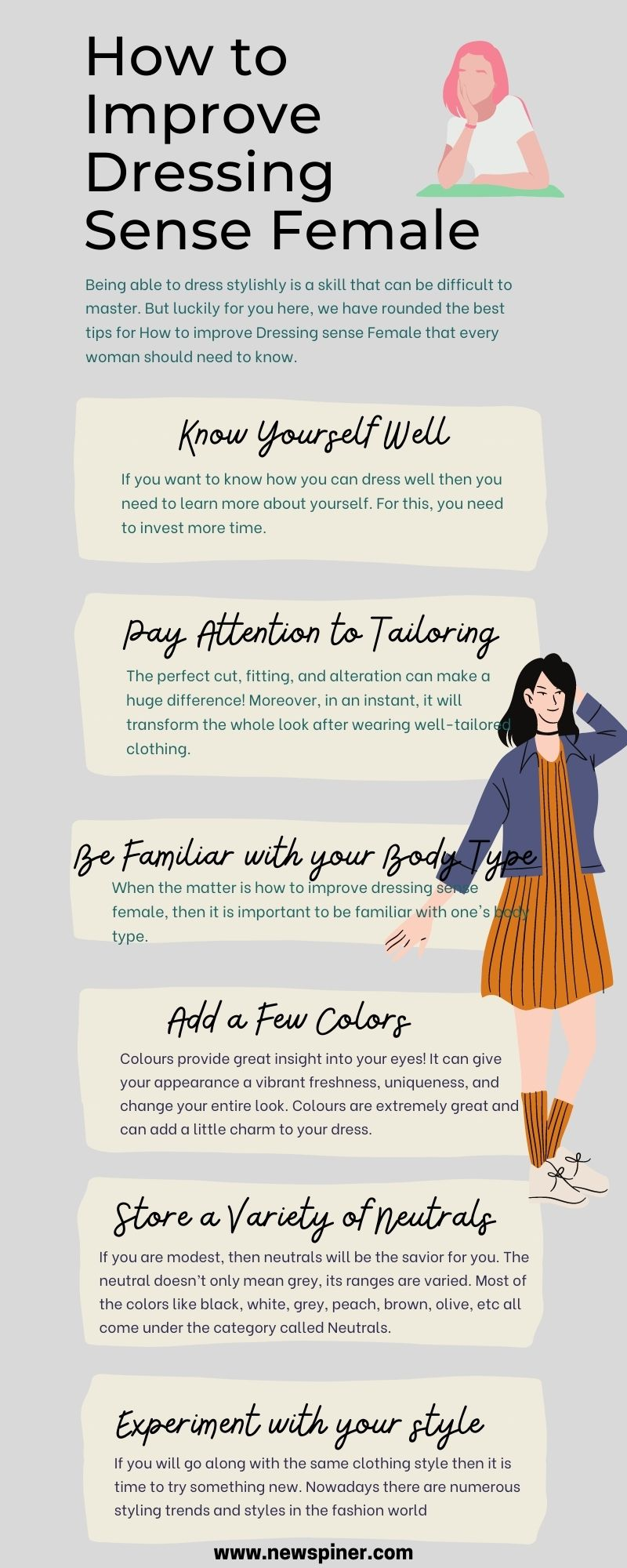 How to improve dressing sense female