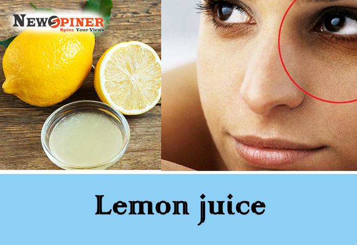 Lemon juice to remove dark circles in 2 days