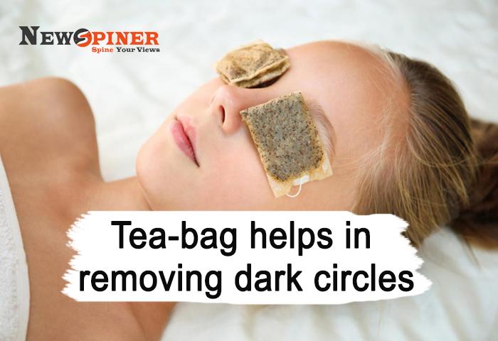 Tea bag helps in removing dark circles