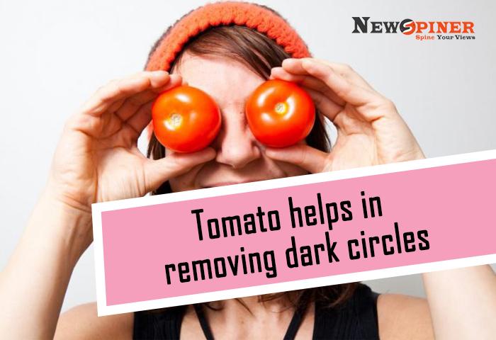 Tomato to remove dark circles