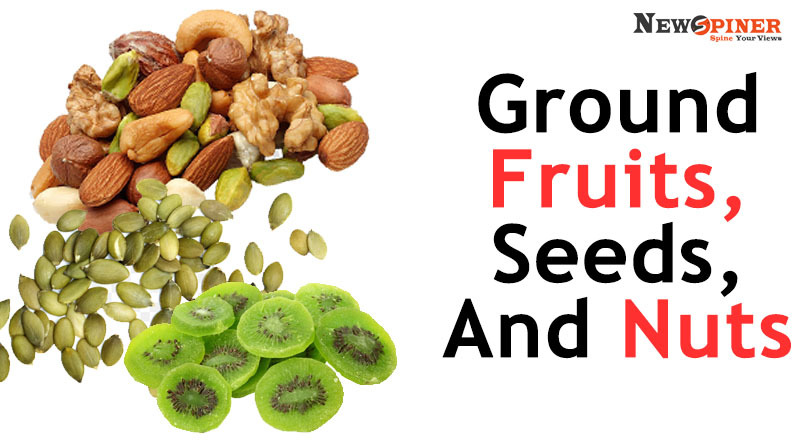 Ground fruits, seeds and nuts