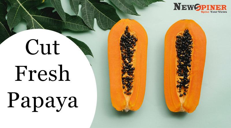 Cut fresh papaya