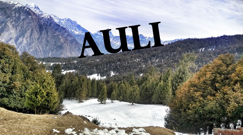 Auli - Tourist places in India in summer