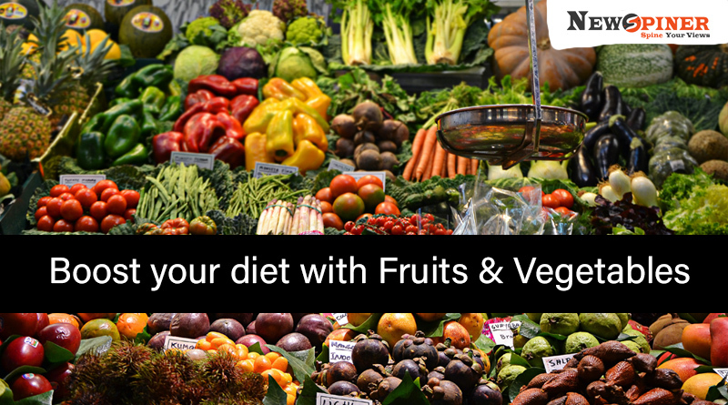 Boost your diet with fruits and vegetables