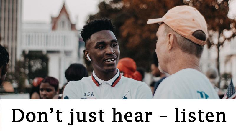 Don't just hear - listen