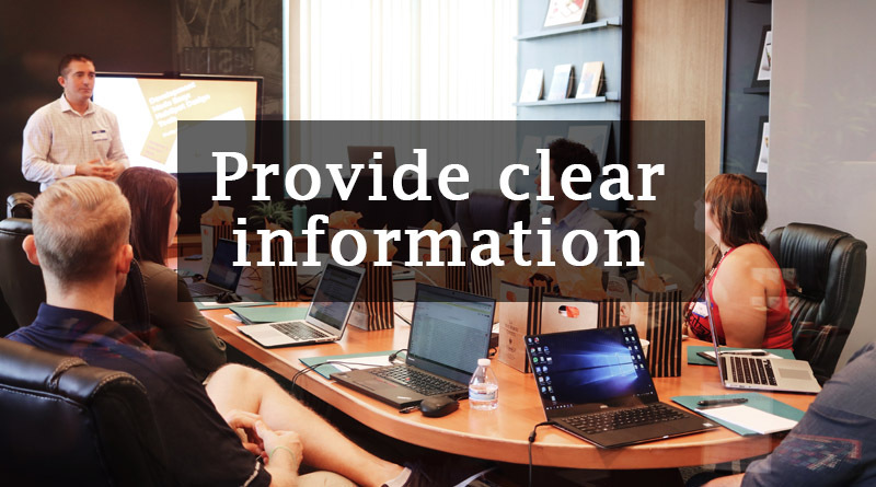 Provide clear information - How to improve communication skills in the workplace