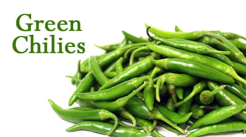 Green Chilies - monsoon season vegetables in india
