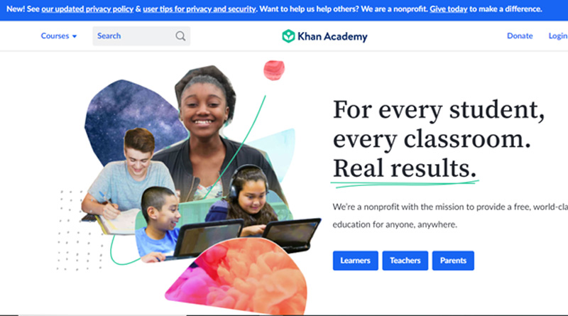 Khan Academy - best websites to learn coding for free 2021