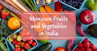 Monsoon Fruits and vegetables in india