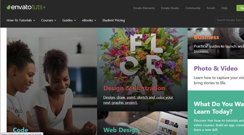Tutsplus - best websites to learn coding for free 2021
