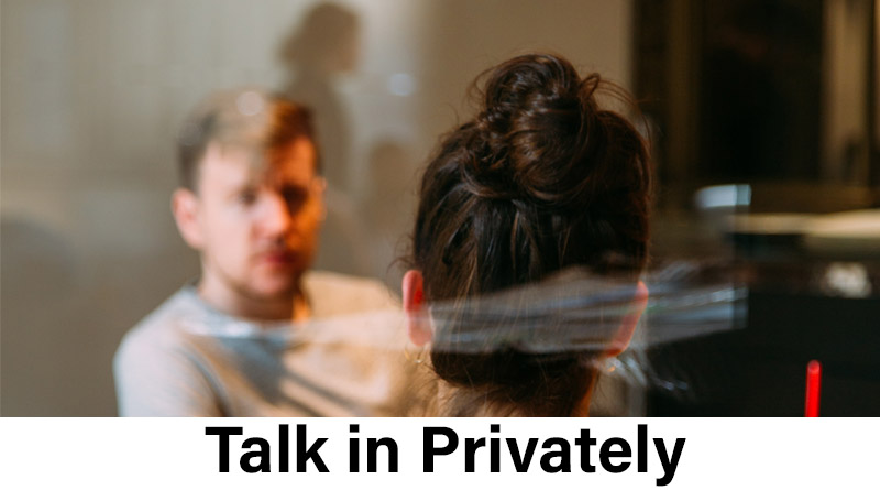 Talk in privately - how to impress a girl on social media