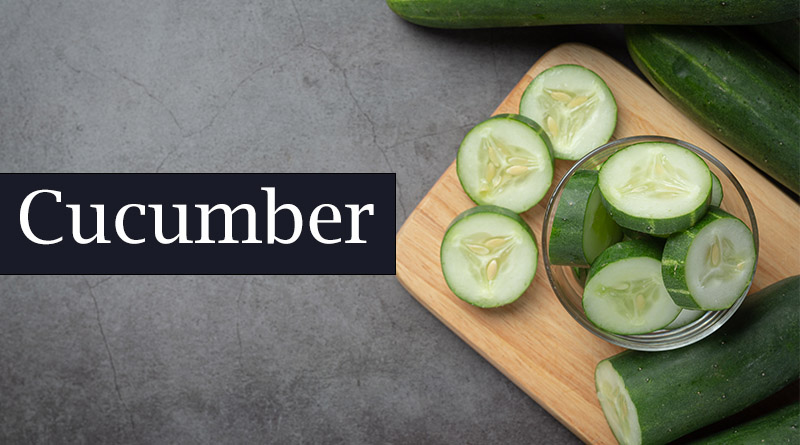 Cucumber - home remedies for acne