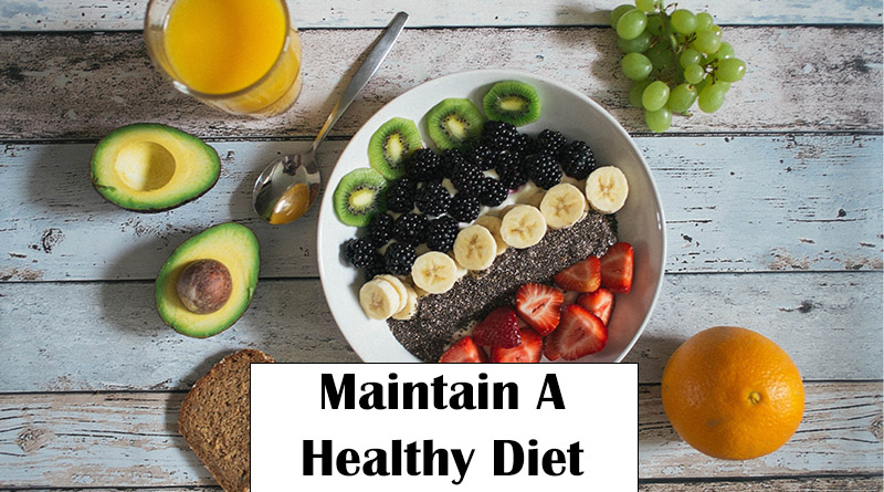 Maintain a healthy diet - home remedies for acne marks